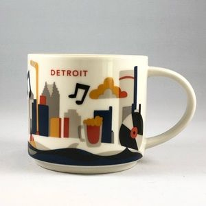 """Detroit Starbucks """"You Are Here"""" Collection Mug"""